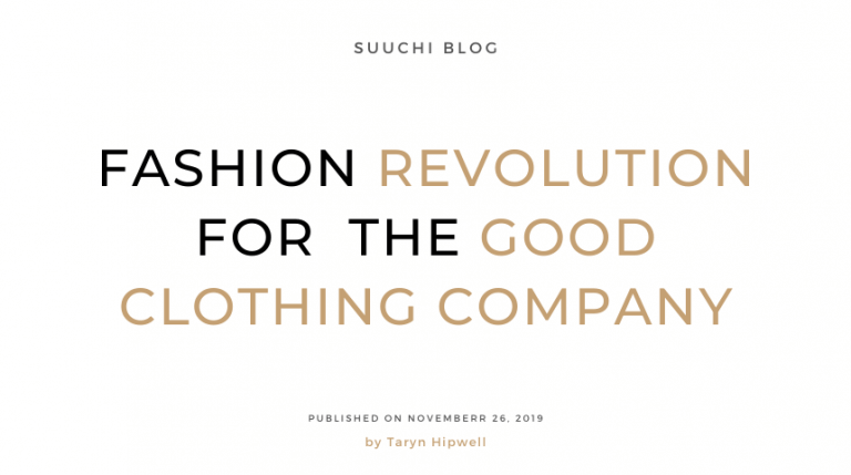 Fashion revolution for the good clothing company