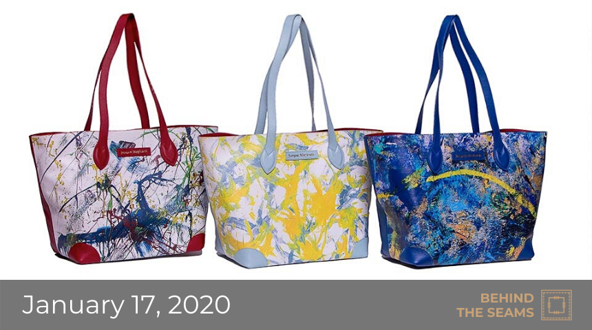 Tote bags in multiple colors by Jumper Maybach.